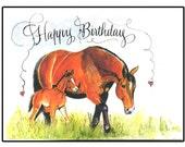 Handmade Unique Happy Birthday Horse Card