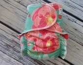 Stay Dry One Size Overnight Fitted Cloth Diaper in Pink Flowers