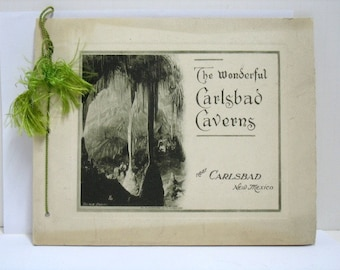 The Wonderful Carlsbad Caverns New Mexico Photo Book Album Portfolio Leck ca:1920s