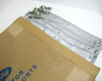 Vintage 6 Ford Radiator Winter Fronts Covers NOS in BOX of 6 ca:1949 Ford Automotive Car Radiator Cover