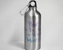 RHONY - What are you doing here without Dorinda? Stainless Steel  Water Bottle w/ Straw Top - Silver or White