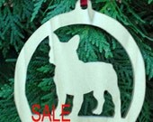 French Bulldog Ornament, Christmas Tree Ornament, Holiday Decoration, Pet Lover's Tree Decoration, Handmade wooden Christmas Ornament