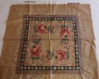 Wamsutta Kendell Design Brown Floral Panels