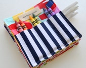 Crayon Rolls . Birthday Party Favor . Set of 20 . 6 Crayons Included . Art Party Favors . Mini Crayon Holder . Wedding Favor