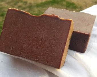 Drizzled Chocolate w/ Raw Cacao Powder - Gourmet Soap Bar - 5 oz