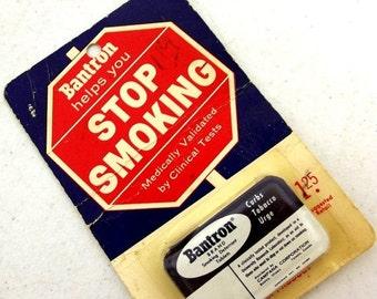 SALE Vintage Bantron Tin - Whitey Ford - New York Yankees - Stop Smoking tablets