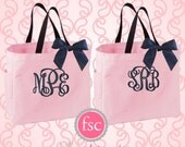 2 personalized bridesmaid bags , Bridesmaids Gift, Personalized Wedding Tote Bag, Wedding Party Gift, Bridal Party Gift, Monogrammed Tote