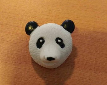 50 Dress it up Panda head buttons with shankback 3/4""