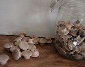 Birch End Grain Wooden Knobs 1-1/2 inch Set of 6