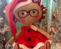 Santa Raggedy Ann -  Santa Claus - Raggedy Annie  Christmas - Santa Ragdoll -  vintage Christmas  -  Merry Christmas -  Saint Nick  -