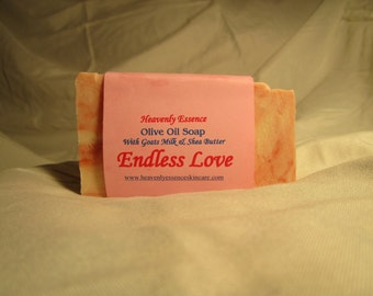 Endless Love olive oil soap with goat milk and shea butter