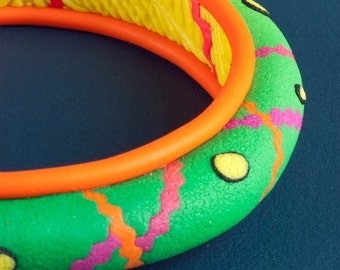 Polymer Clay Jewelry Bracelet, the Magic Seamstress Bangle
