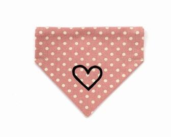 Pink Dotty Heart Neckerchief