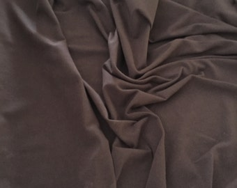 "Organic Stretch Bamboo Jersey Knit Fabric in Chocolate brown, 63"" wide, used for sports wear, yoga wear,T-shirts, underwear, swaddle blanket"