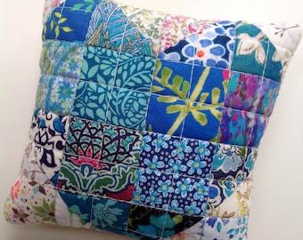 Liberty patchwork pincushion