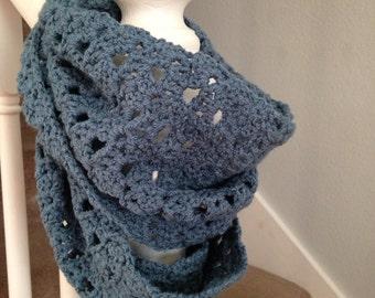 Sale Infinity scarf slate blue