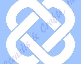 "4"" CELTIC KNOT STENCIL templates background template pattern pochoir stencils craft art paint #3 new"
