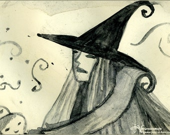 Cruelty free Witches - print from original painting on paper -  21 x 29,7 cm
