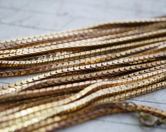 Chain Necklace Chain Vintage Brass Chain Square Cobra Chain 15 inch Necklace 2mm CH29
