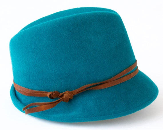 Women's Winter Hat Teal Fedora Hat Fall Fashion Fall Accessories Women's Fedora Hat Teal Hat Fashion Hat Jewel Color Hat Green Hat Women