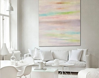 58x42 Ex large original modern abstract painting by Elsisy, US artist