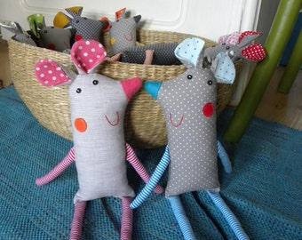 mouse softie  Grey doted Mish