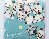 Cute Panda Bears, Bunny Rabbits & Cats Japanese Sticker Flakes Set