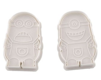 Minions Cookie Cutters / Stamps - Set Of Two Cookie Cutters