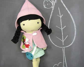 Studio Doll Large - Sophia. Easter, Handmade, Doll, Eco Friendly, Bunny, Plush, Toy, Children, Gift