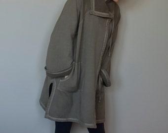 Hemp fleece overcoat