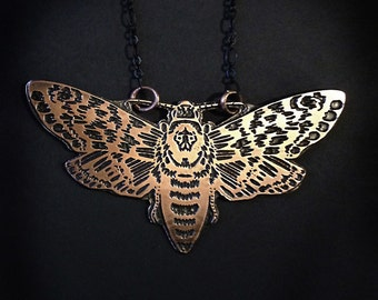Death Head Moth, Insect Jewelry,  based on my original drawing, Jamie Spinello