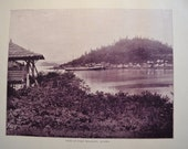 1894 Scenic Photography of America - Fort Wrangel Alaska - Landscape Nature Antique Victorian Era Fine Art for Framing 100 Years Old