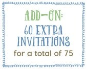 Add-On : 60 Extra Invitations for a Total of 75 Invitations