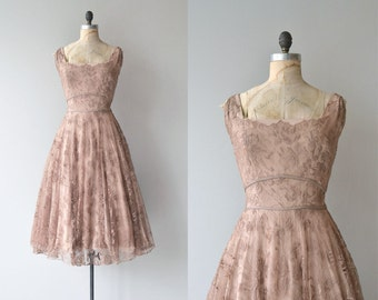 Adele Simpson dress | vintage 1950s dress | lace 50s party dress