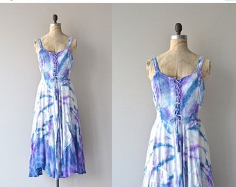 25% OFF.... Bliss and Bless dress   gauze tie-dye dress • vintage rayon festival dress
