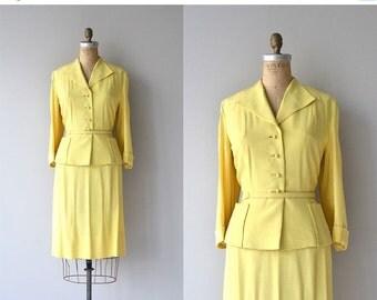25% OFF.... Dan Millstein silk suit   vintage 1950s suit   silk 50s suit