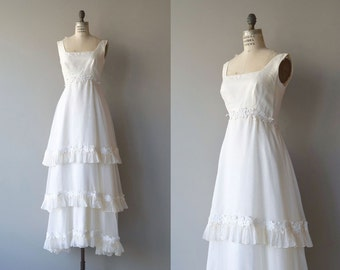 Before Now wedding gown | vintage 1960s wedding dress | empire waist 60s wedding gown