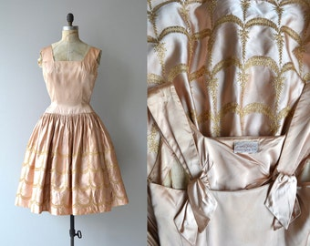 Danse Douse dress | vintage 1940s dress | embroidered silk 40s dress