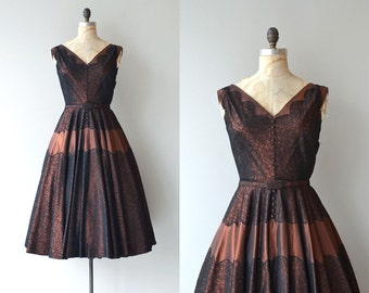 Fortune's Darling dress | vintage 1950s dress | metallic 50s party dress
