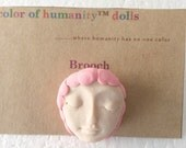 """Doll Pin in Linen """"Pink"""""""