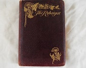 Vintage antique book, The Rubaiyat of Omar Khayyam, The Salaman and Absal of Jami, leather-bound, 1900s, 1910s