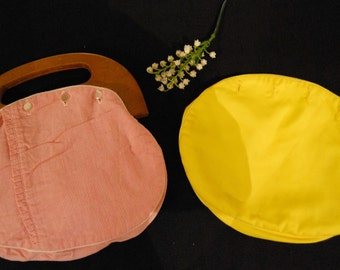 Vintage Bermuda Bag with Pink & Yellow