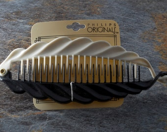 Retro 1990's Phillips Originals Hair Clip COmb Bannana Clip Hair Accessory