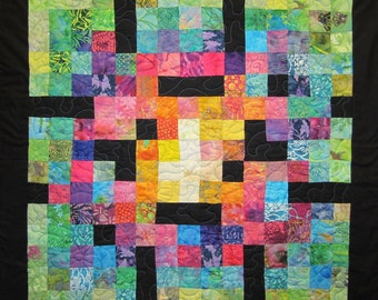 Crossword Puzzle Wall Hanging Art Quilt