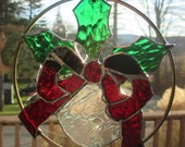 Stained glass mounted  ornament