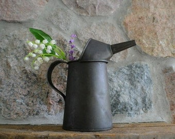 Vintage Old Rusty Oil Can Oil Pitcher-Primitive Decor-Vintage Home Decor-Country-Farmhouse