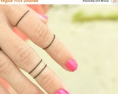CLEARANCE SALE Knuckle Ring Single Band Joint Ring Black Brass Wire Wrap Stackable Boho Bohemian Hippie Eclectic Statement Jewelry Adjustabl