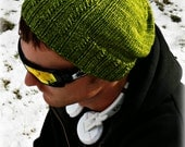 Partial Print Knitted Hat Pattern Download