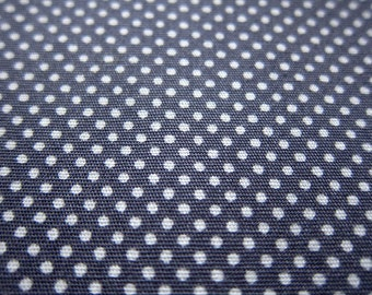 SALE Japanese Cotton Fabric - Steel Gray Tiny Dots - Fat Quarter