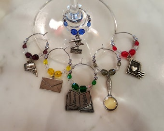 Stamp Collector  Wine Charms